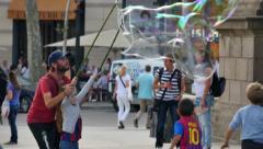 4K Placa de Catalunya Tourists in Barcelona - stock footage