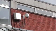 Security Surveillance CCTV Camera Urban Setting Gritty Stock Footage