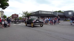 Memorial Day Parade - Old Car Stock Footage