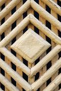 Polygonal pattern of an old wooden door Stock Photos