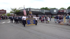 Memorial Day Parade - Marblehead Veterans Stock Footage