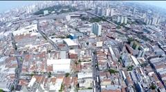 Flying Sao Paulo city, Brazil, Latin America Stock Footage