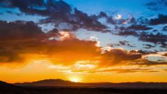 Time Lapse - Beautiful sunset with moving clouds in Las Vegas Stock Footage