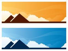 Stock Illustration of landmark banners - egypt