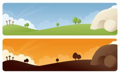 Resurrection easter banner Stock Illustration