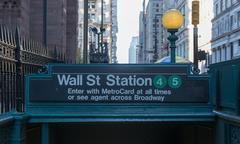 Subway entrance, wall street, new york Kuvituskuvat