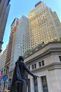 George washington, federal hall, wall st, manhattan, ny Stock Photos