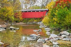 Everett Covered Bridge - stock photo