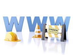 Website under construction concept. 3d illustration Stock Illustration