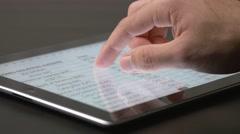 4K Stock Market Values iPad Device Stock Footage