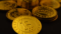 Bitcoins fltover 25P Stock Footage