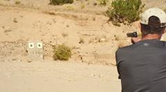 Gun target practice Stock Footage