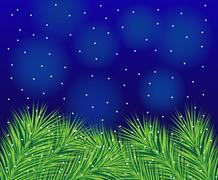 beautiful festive background with spruce branches - stock illustration