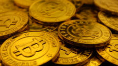 Bitcoin treasure 25P Slow Stock Footage