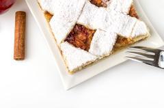 homemade apple cake - stock photo