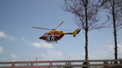 Flying  Helicopter Stock Footage