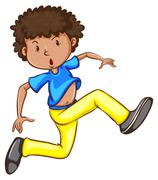 Stock Illustration of A sketch of an energetic hiphop dancer