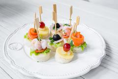 seafood cocktail - stock photo