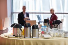 Coffee break at the business event. Kuvituskuvat