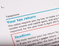 tax return - stock photo