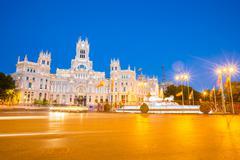 plaza de la cibeles madrid spain - stock photo