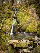 stock ghyll force water fall - stock photo