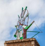 majorcan windmil - stock photo