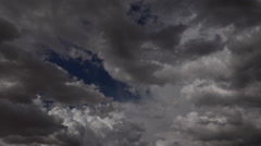 Roiling Turbulent Storm Clouds Time Lapse Stock Footage