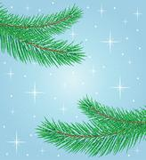 Beautiful festive background with spruce branches Stock Illustration