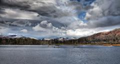 windermere view - stock photo