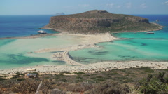 Beach of Balos in Crete, Greece. Stock Footage