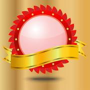 Stock Illustration of vignette with a brilliant ribbon, background for a design