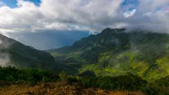 Kalalau Lookout Timelapse 4K Stock Footage