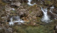 babbling brook stream - stock photo