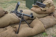 Machine gun nest Stock Photos