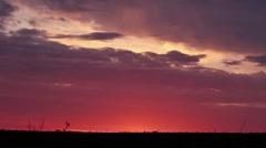 Before sunrise Stock Footage