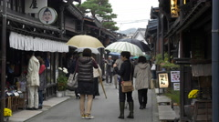 Preserved Historical Street in Takayama, Japan Stock Footage