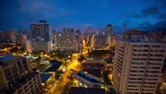 Honolulu City Timelapse 4K Stock Footage