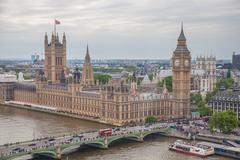 england may 30th: view of houses of parliament 30th may 2014 in london englan - stock photo