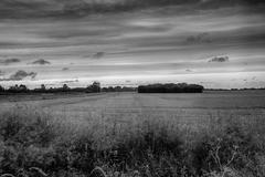 lincolnshire wolds - stock photo