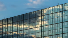 Clouds on glass Facade - modern architecture in Hamburg  - DSLR Timelapse Stock Footage