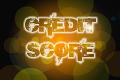 Stock Illustration of credit score concept