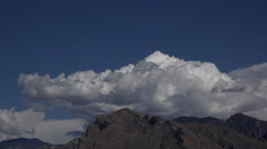 4K Turbulent Mountain Cloud Mass Time Lapse Stock Footage