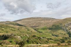 welsh mountains - stock photo