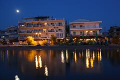 Summer resort at night Stock Photos