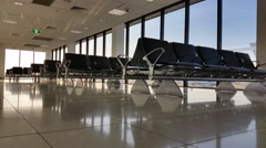 Airport Terminal Departure Gate Stock Footage