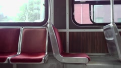 Empty streetcarseat Stock Footage