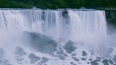 Niagara Falls as seen from the Canadian side. Stock Footage
