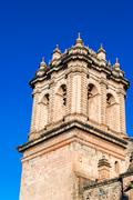 cuzco cathedral spire - stock photo