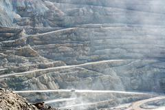 View of chuquicamata copper mine Stock Photos